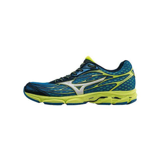 fcedc003dcd Mizuno - Chaussures Wave Catalyst bleu vert - pas cher Achat   Vente  Chaussures running - RueDuCommerce