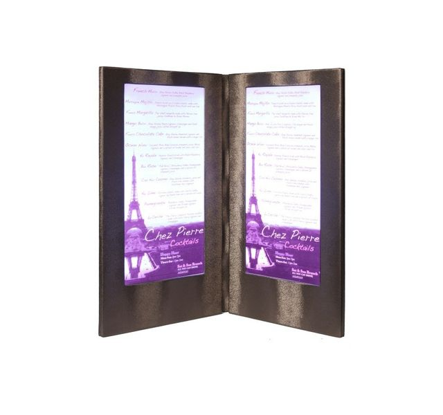Securit Carte Menu Led Coloris cuivre 2 A45