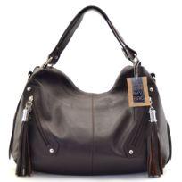 Oh My Bag - Sac à main cuir femme - Modèle Arizona marron foncé