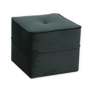 alin a vicky canap pouf en velours vert fonc pas cher achat vente rideaux douche. Black Bedroom Furniture Sets. Home Design Ideas