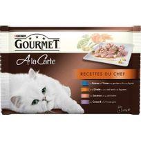 Gourmet - A La Carte Recettes du Chef : Poisson de l'Océan - 4 x 85 g x12 Pour chat adulte
