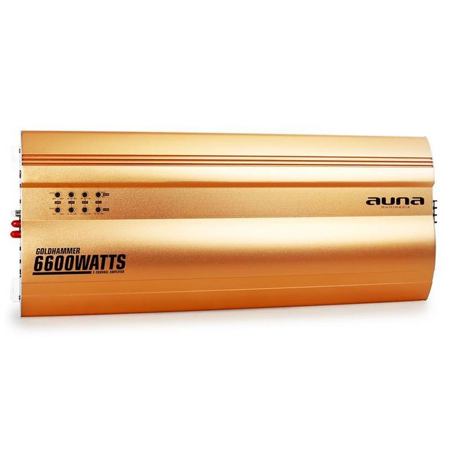 AUNA Goldhammer Ampli auto 5 canaux 6600W