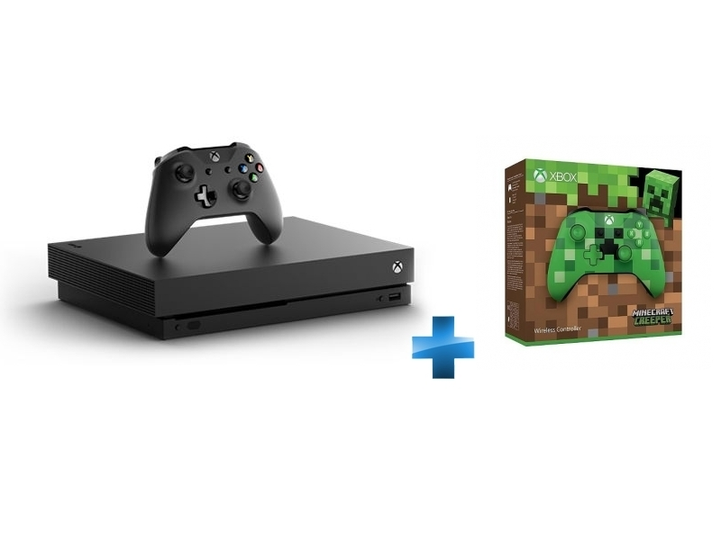 Xbox One X 1 To + Manette Xbox Edition Minecraft Creeper