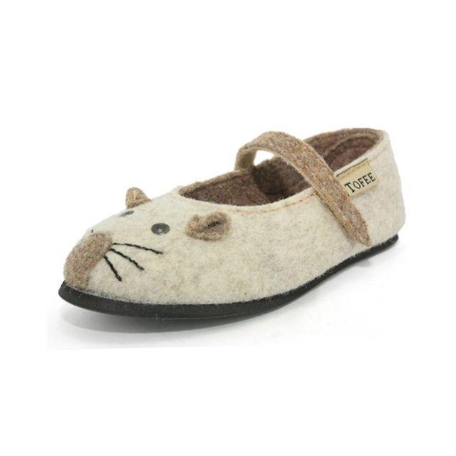 Tofee - chaussons fille souris en laine bouillie b filles h71tof001 Beige - pas  cher Achat   Vente Chaussures, chaussons - RueDuCommerce 56ac056ba83f