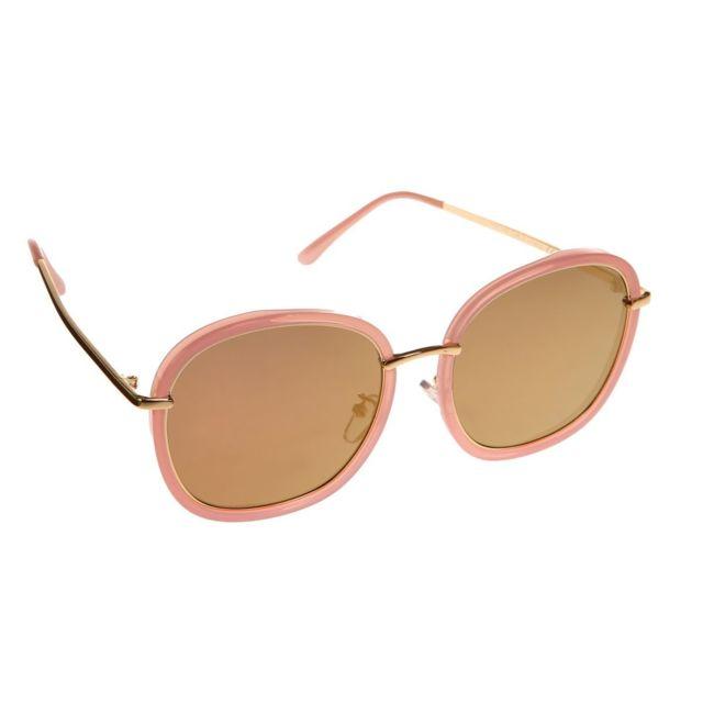 938a0494ac5c90 Lamodeuse - Lunettes de soleil roses à verres teintés miroir - pas ...