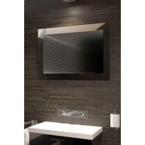 Diamond X Collection - Miroir De Salle De Bain Infinity À Reflet Parfait Avec Lumineux Led K212L