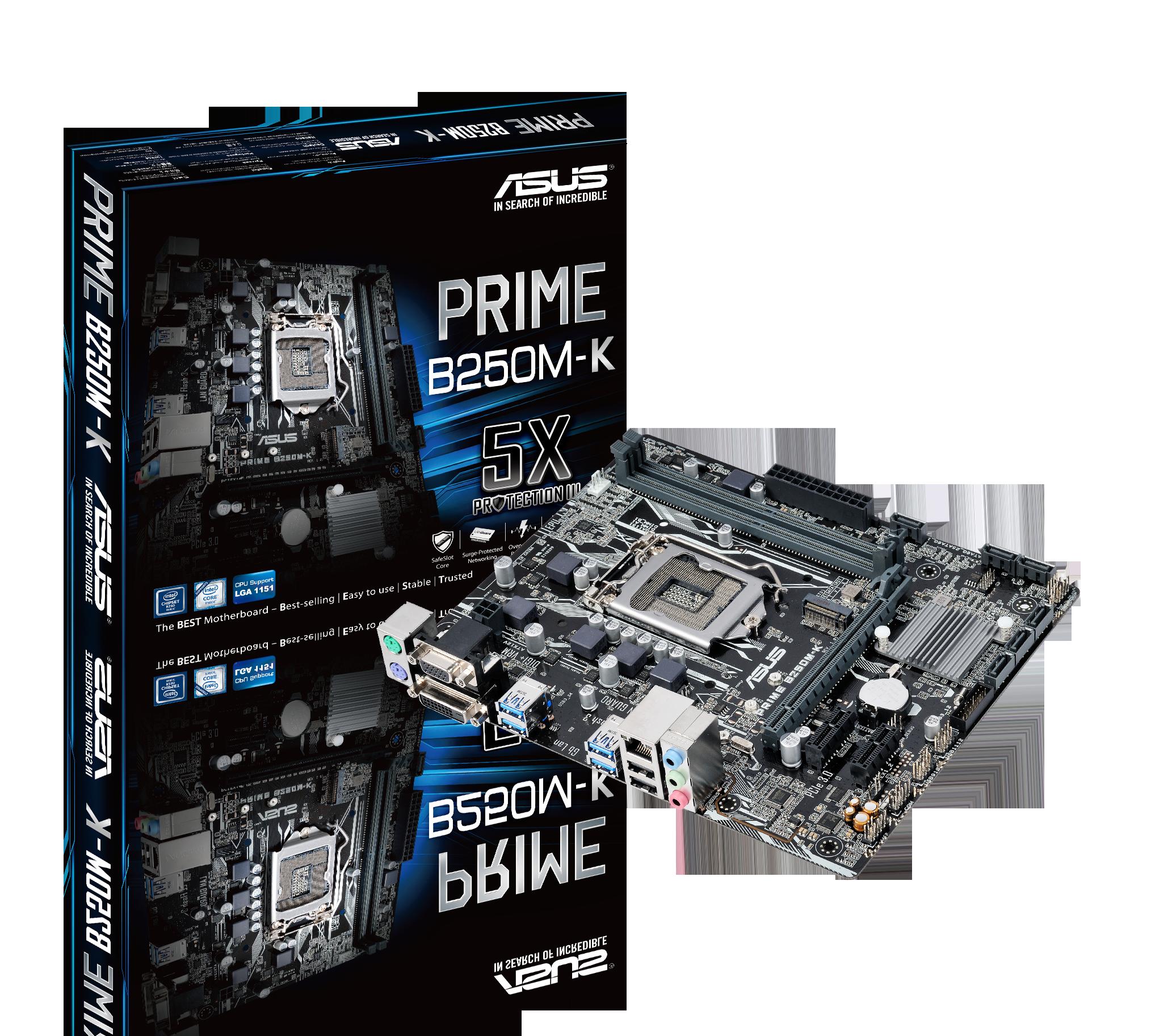 Asus Carte Mere Prime B250m K Socket 1151 Chipset B250 Kabylake