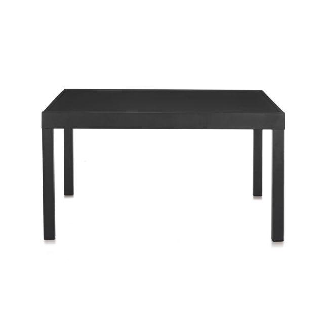 Alinéa - Yanis Table de jardin extensible en alu et verre trempé 6 à ...