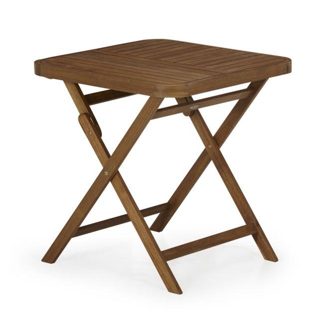 Alinéa - Youk Table de jardin pliante en acacia huilé 2 ...