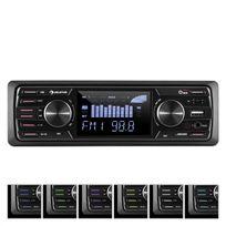 """AUNA - MD-350BT Autoradio Deckless BT USB SD MP3 4x45 w max 3"""" LCD AUX Télécommande"""