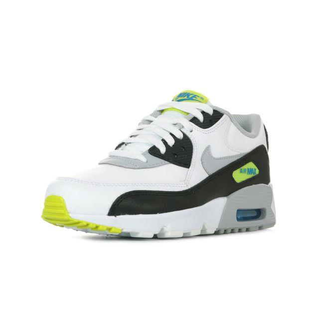 5739643a1e1b2 Nike - Air Max 90 Leather GS - pas cher Achat   Vente Baskets enfant -  RueDuCommerce