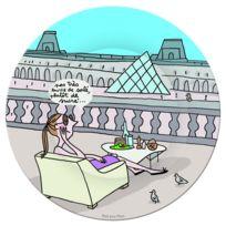 Petit Jour Paris - Assiette à dessert Au Louvre - Petit Jour