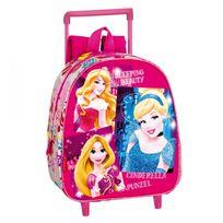 Princesses Disney - Sac à roulettes maternelle Princesse Stars 28 Cm trolley - Cartable