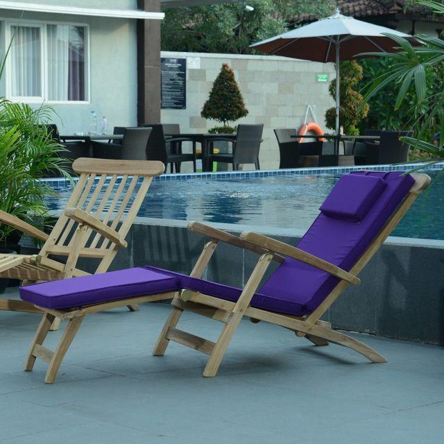 teck 39 attitude matelas violet pour chaise longue pas cher achat vente coussins galettes de. Black Bedroom Furniture Sets. Home Design Ideas