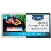 Starwax - Tampon noir récurage intensif x4