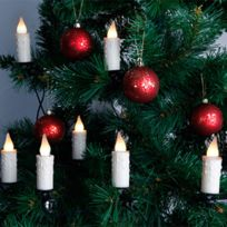 STAR - Guirlande led 10 bougies pour sapin