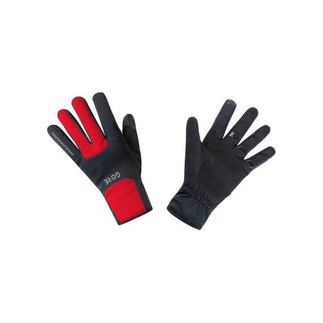 Gore Wear Gants Longs Thermo Windstopper noir rouge