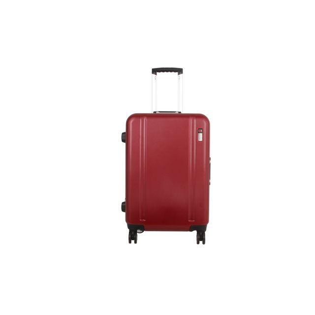 CARREFOUR - VIP - Valise Polycarbonate - 4 roues - 57 cm - Bordeaux - PC11601-56CM-BURG 43