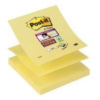 Post-it - bloc de 90 feuilles z-notes super sticky 76x76 mm jaune
