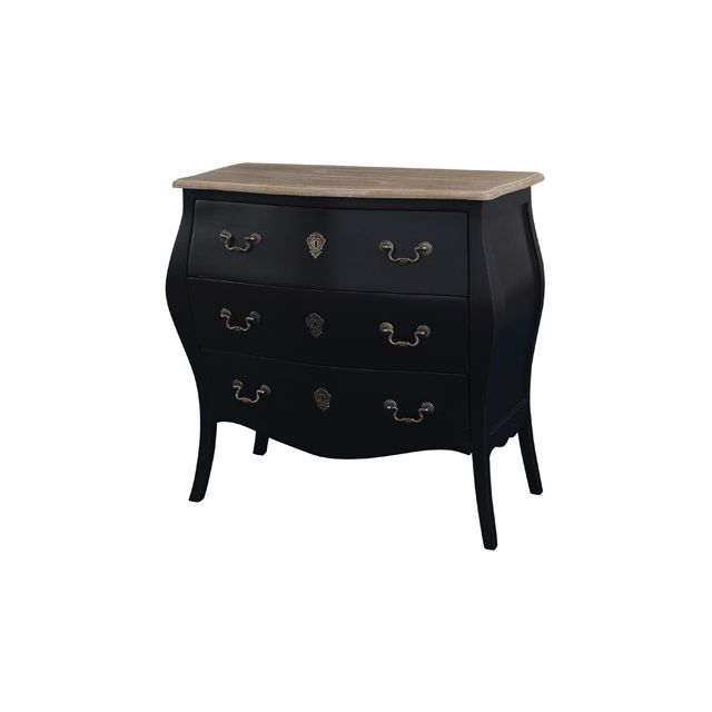 commode 3 tiroirs noire sebpeche31. Black Bedroom Furniture Sets. Home Design Ideas
