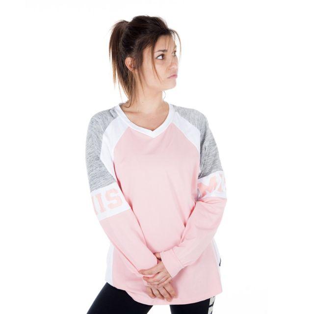 8c42af1b4ad Freegun - T-shirt manches longues Femme Tricolore - pas cher Achat ...
