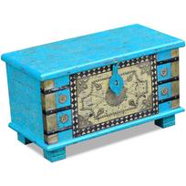 Vidaxl - Coffre de rangement Bois manguier bleu 80 x 40 45 cm