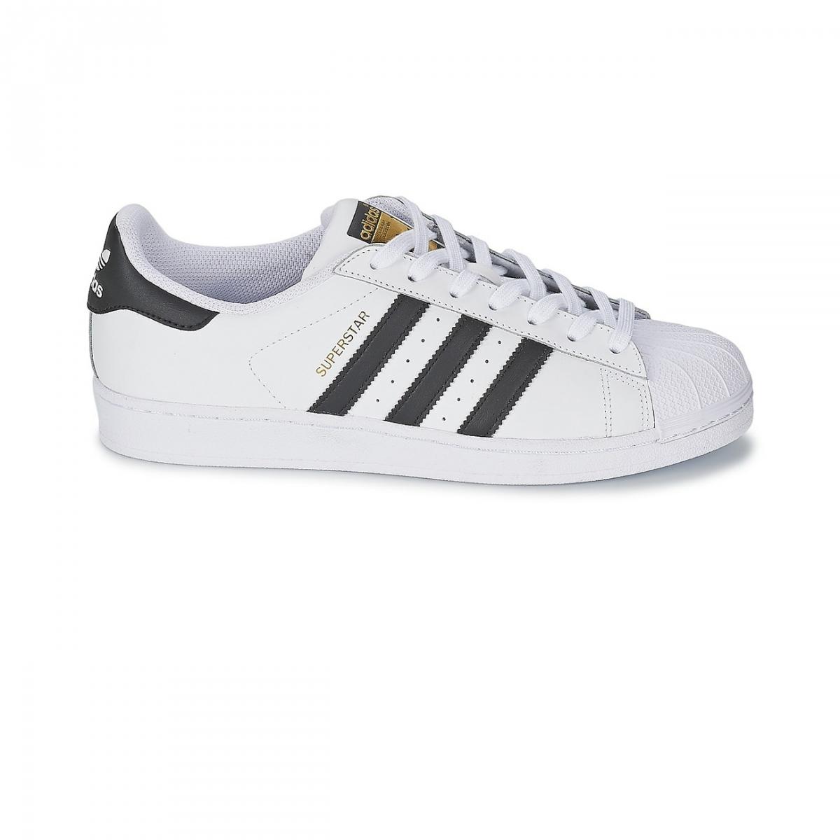 Chaussures Superstar Blanc/Noir