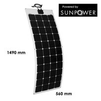 Myshop-solaire - Panneau solaire 140w semi-flexible cellules sunpower back-contact