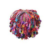The Rug Republic - Tabouret Gypsy Multicolore 40 X 40 X 40