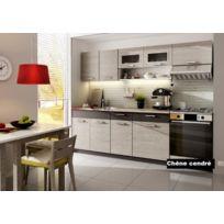 Baltic Meubles - Cuisine Topaze chêne cendré 2m40 / 7 meubles