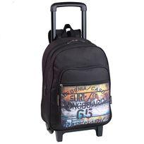 Longboard - Sac à dos à roulettes Trade Mark G5 2 compartiments noir