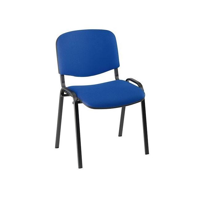Nowystyl Chaise de conférence standard tissu - bleu - Lot de 4