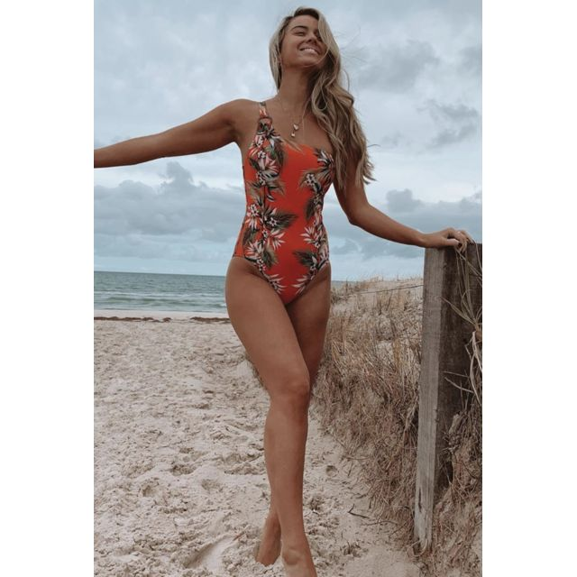 Seafolly Maillot 1 Pièce One Shoulder Tangelo - OceanAlley