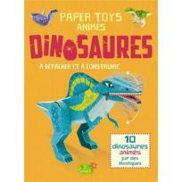 1 2 3 Soleil - paper toys animés à détacher et à construire ; dinosaures