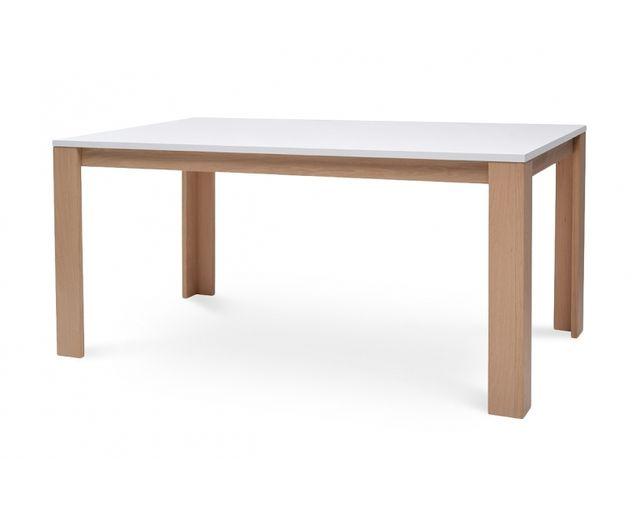 Coton Pastel Table à manger en bois plateau blanc
