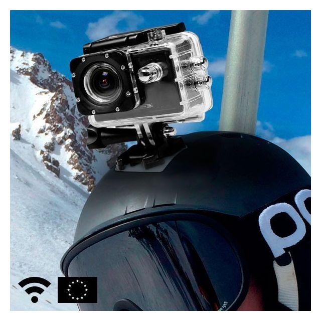 Totalcadeau Caméra Sport Wifi étanchéité 30 m Hd - support vélo, support casque, boîtier imperméable et étanche