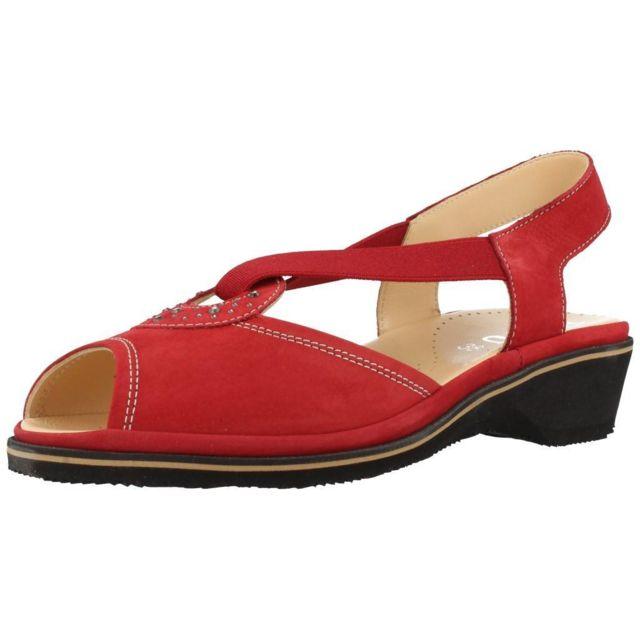 Plaju Mocassins et chaussures bateau femme Lisa, Rouge