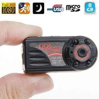 Yonis - Mini Caméra Espion 12MP photo vidéos vision nocturne Hd 1080P 8Go