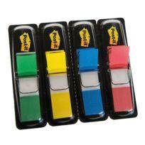 Post-it - carte de 4x35 index - format étroit 12 mm- couleur assortie bleu, rouge, vert et jaune