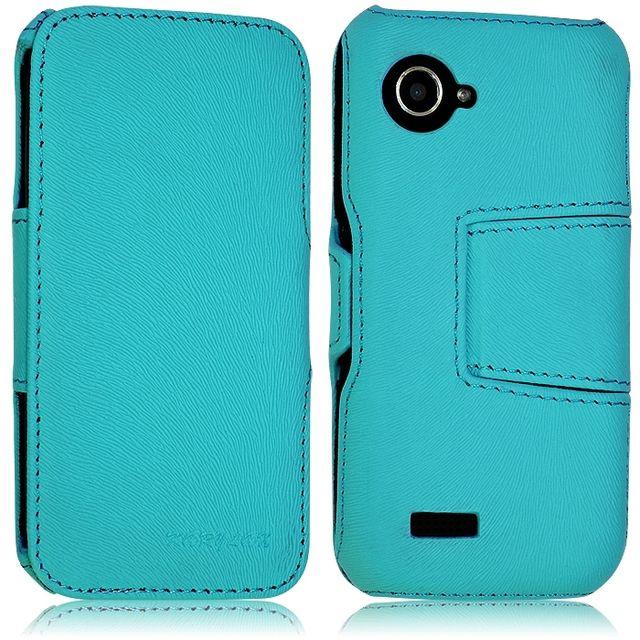 Coque Housse Etui avec Rabat Latéral Fonction Support pour Wiko Cink Slim 2 couleur Bleu Turquoise