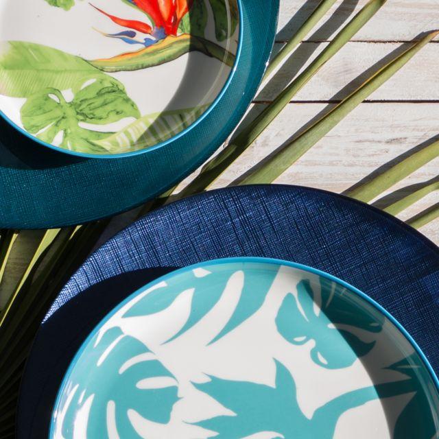 Bruno Evrard - Assiette de présentation en verre bleu marine 33cm - Verre - Bleu foncé