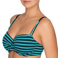 Primadonna Swim - Haut de maillot à armature rayures bicolores Puerto Rico Mermaid
