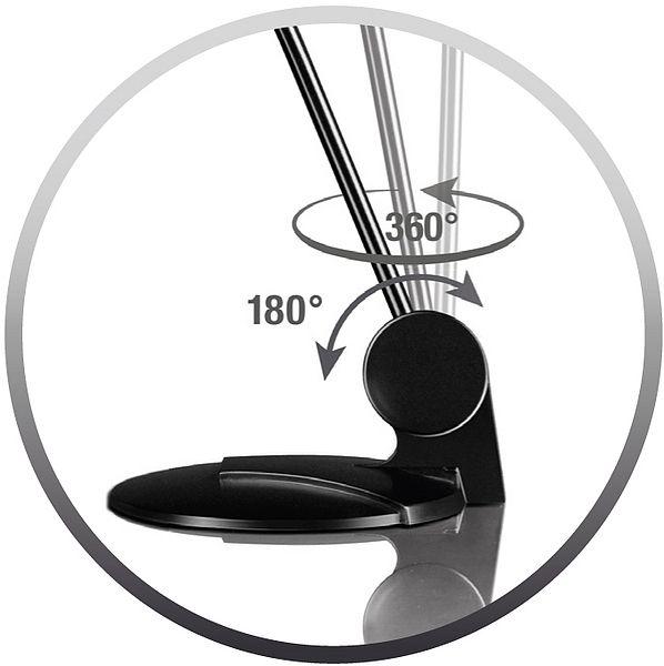 SPEEDLINK SL-8702-BK PURE microphone noir Microphone de table pour PC, jack 3,5mm. Tige de microphone flexible pivotante et inclinable.