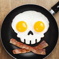 Totalcadeau - Moule silicone tête de mort œuf sur plat squelette