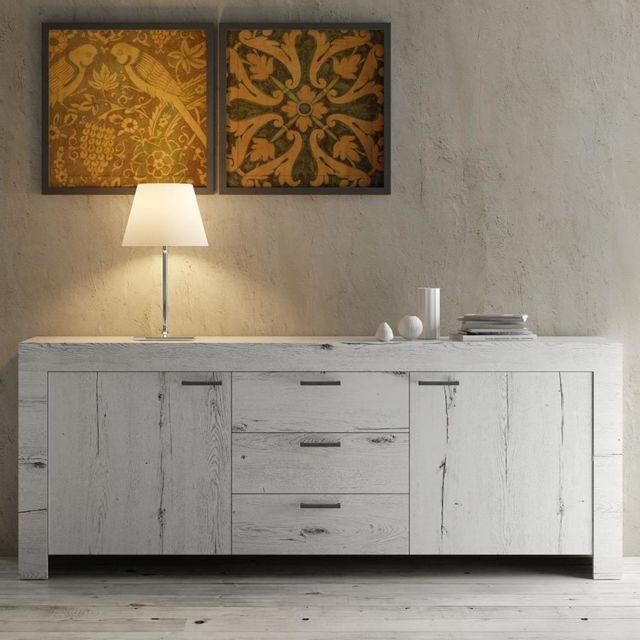 Kasalinea Enfilade contemporaine couleur chêne blanchi Romane 2