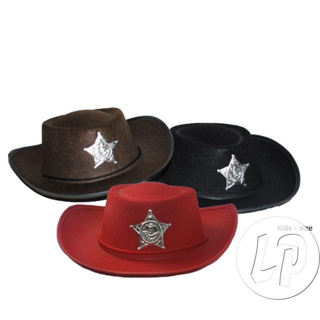 enfant prix réduit 2019 meilleures ventes Coolminiprix - Lot de 12 - Chapeau cowboy feutrine avec ...