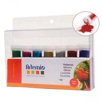 Artemio - Lot de 7 poudres à paillettes multicolores pour Scrapbooking