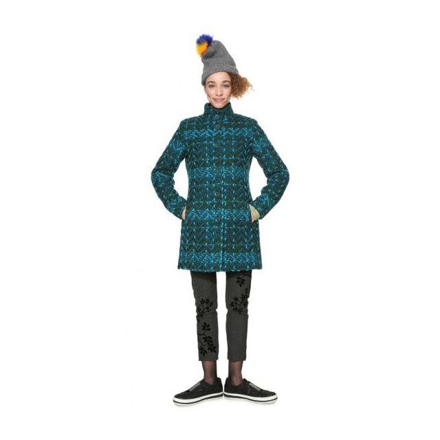 Desigual - Manteau Femme Lorein Bleu Vert 18WWEWBV - Taille - 38 Turquoise  - pas cher Achat   Vente Blouson femme - RueDuCommerce fdfa269ddbf6