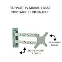 Antarion - Support Tv articulé 1 bras en aluminium
