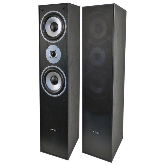 Ltc Audio Paire d'enceintes Hifi Bass reflex à 3 voies 350W - Noir Ltc L766-BL